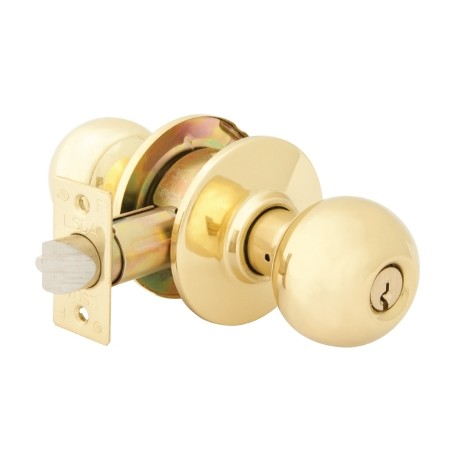 LSDA Grade 2 Commercial Knob Set - Polished Brass